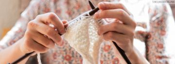 Knitting a Scarf at Home Facebook Cover-ups