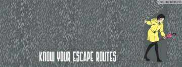 Know Your Escape Routes Facebook cover photo
