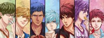 Kurokos Basketball Seirin and The Generation of Miracles Facebook Cover
