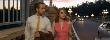 La La Land Emma Stone and Ryan Gosling Walking Facebook Banner