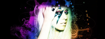 Lady Gaga 2 Facebook Background TimeLine Cover