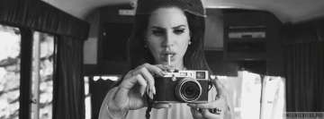 Lana Del Rey Taking a Picture Facebook cover photo