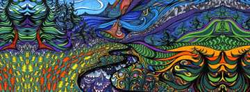 Land of Psychedelics Facebook Background TimeLine Cover
