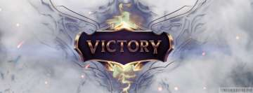 League of Legends White Victory Facebook cover photo
