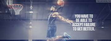 Lebron James Learning to Accept Failure Quote Facebook Wall Image