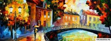 Leonid Afremov Bridge Painting