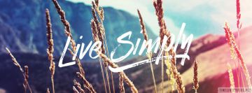 Live Simply Facebook Cover-ups