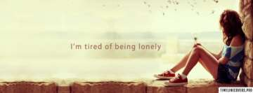 Lonely Girl Quote Facebook Cover-ups