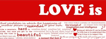 Love Is Facebook cover photo