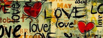 Love Message Facebook cover photo