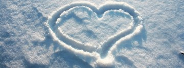 Love on Snow Facebook Cover