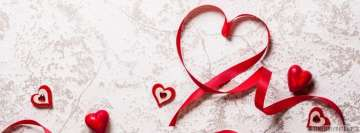 Love Ribbons Art Facebook Background