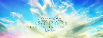 Love Will Live Robin Hood Quote Facebook Background TimeLine Cover