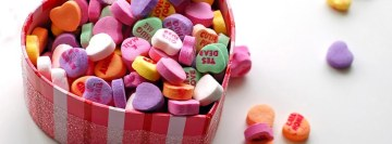 Love Candy Hearts Facebook Cover