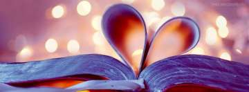 Love Book Heart Facebook cover photo