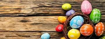 Lovely Easter Eggs Facebook cover photo