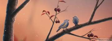 Lovely Little Birds Painting Facebook Wall Image