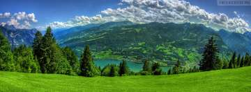 Lush Green Grass Mountains at Kosovo Facebook Cover-ups