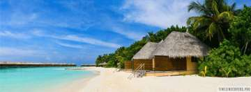 Luxury Huts at an Island Facebook Cover-ups