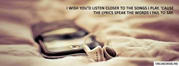 Lyrics Speak The Words Facebook cover photo