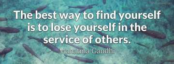 Mahatma Gandhi Quote about Finding Yourself