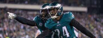 Malcolm Jenkins and Corey Graham of The Philadelphia Eagles