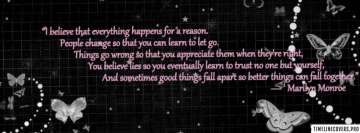 Marilyn Monroe Quote Facebook Banner