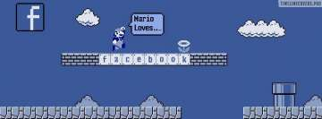 Mario Loves Fb Facebook Background TimeLine Cover