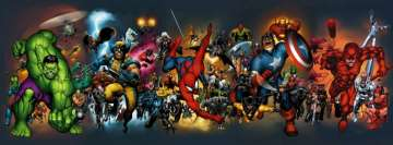 Marvel Comics All Stars Facebook Background TimeLine Cover