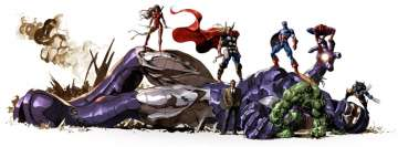 Marvel Heroes Captain America Hulk Spider Man Thor Wolverine Facebook Cover Photo