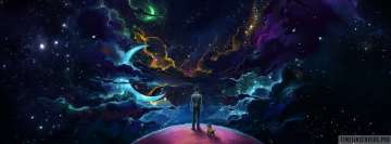 Me My Dog and My Universe Facebook Cover