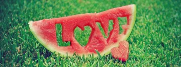 Melon Love Heart Facebook Cover-ups