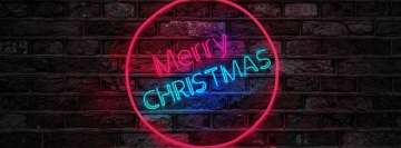 Merry Christmas Neon Sign Facebook Background TimeLine Cover
