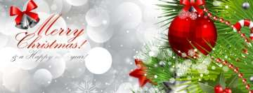 Merry Christmas Ornaments Facebook Banner