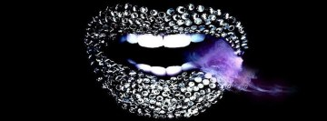 Metallic Lips Facebook cover photo