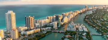 Miami Florida Coastline Cityscape Facebook Cover Photo