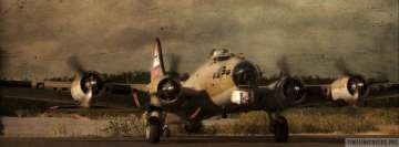 Military Boeing B17 Flying Fortress Facebook Wall Image