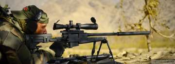 Military Sniper in Range Facebook Wall Image