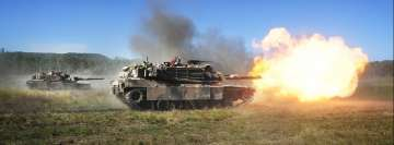 Military Tank Firing Fb Cover
