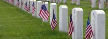 Military Cemetery Sad Memorial Day Facebook Cover Photo