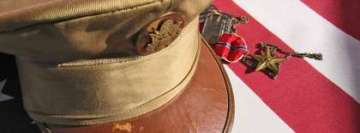 Military Hat and Medals Memorial Day Fb Cover