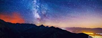 Milky Way from Earth Facebook Banner
