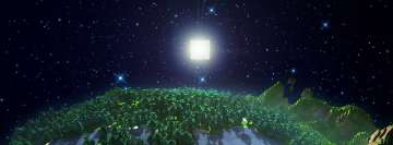 Minecraft Night Facebook Background TimeLine Cover
