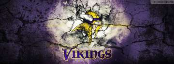 Minnesota Vikings Grunged Logo Facebook cover photo
