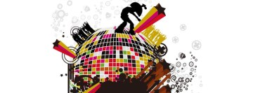 Music Disco Globe Facebook Cover Photo