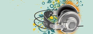 Music Headphones Facebook Background TimeLine Cover