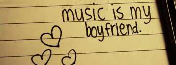 Music is My Boyfriend Facebook Background TimeLine Cover