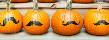 Mustache Halloween Facebook cover photo