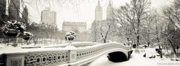 New York Snowy Bridge Facebook cover photo