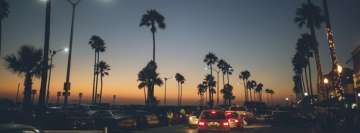 Newport Beach California at Night Facebook Banner